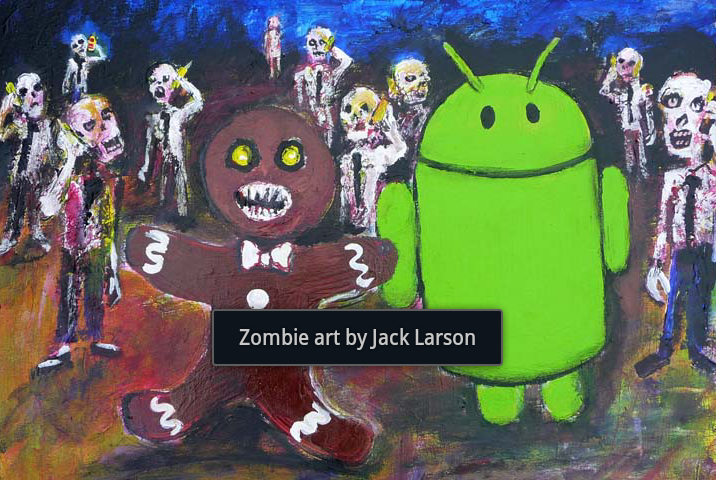 Zombie art by Jack Larson
