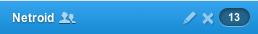 Um einen Benutzer hinzufügen zu können, kann man einfach auf das Symbol mit den 2 Menschen klicken.