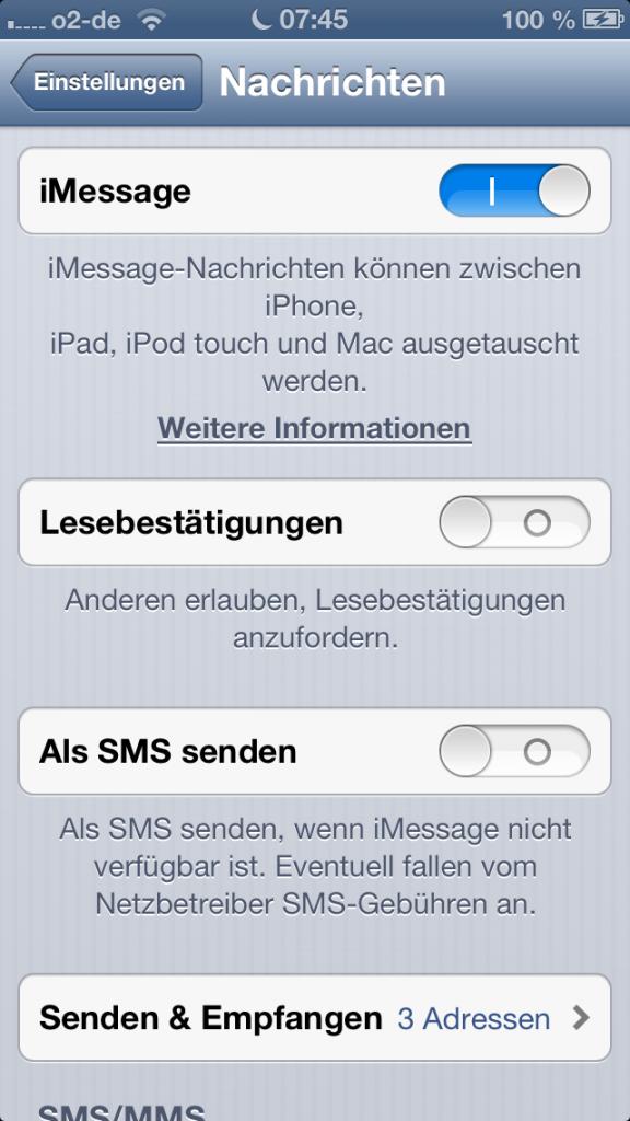 Zuletzt online messenger ausschalten