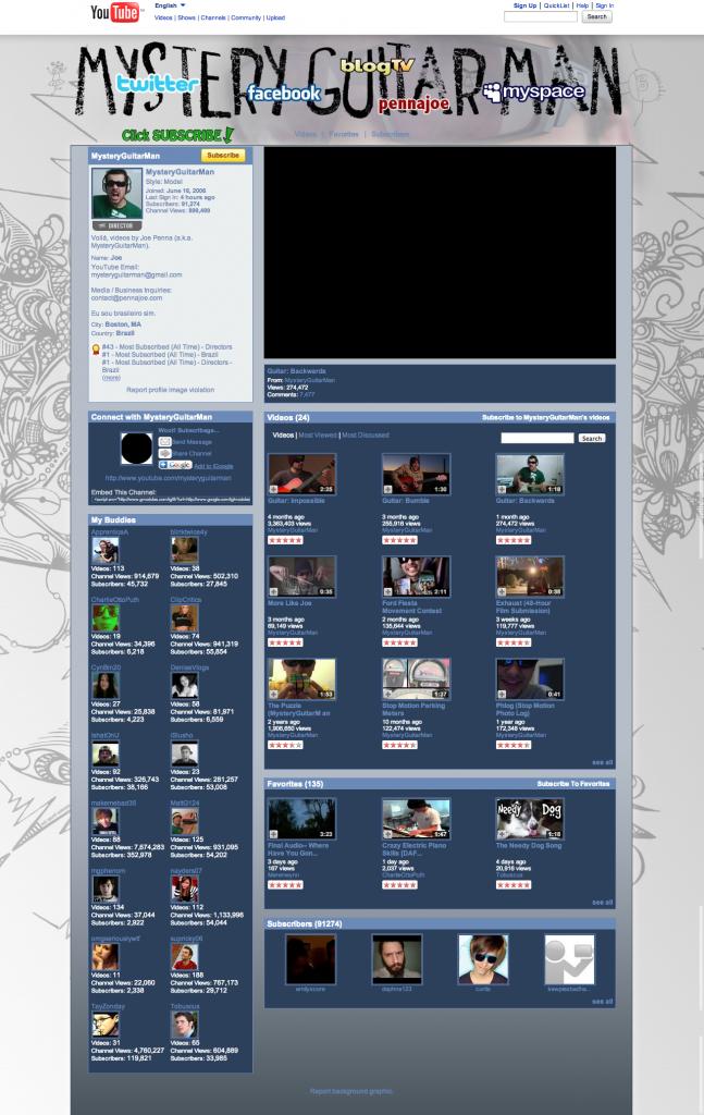 2009: Auch der Hintergrund konnte schon angepasst werden. Außerdem wurde das Design ansprechender...