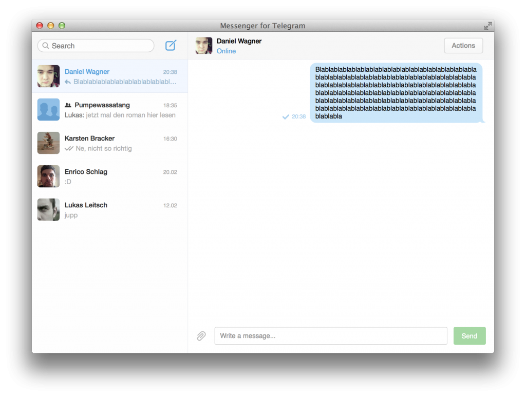 Telegram-App für OSX