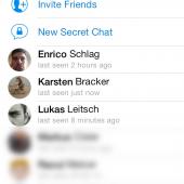 Die Kontaktliste bei Telegram