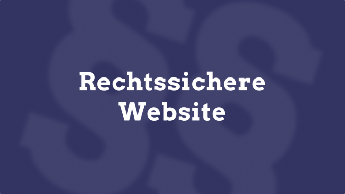 rechtssichere website