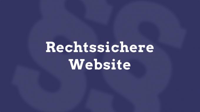 rechtssichere website